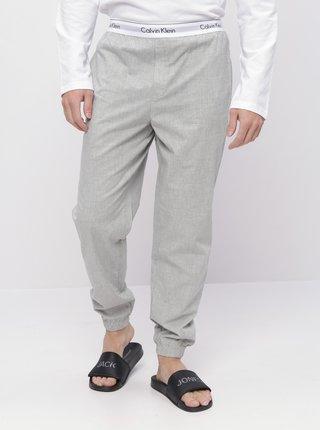 Svetlošedé pánske pyžamové nohavice Calvin Klein Underwear