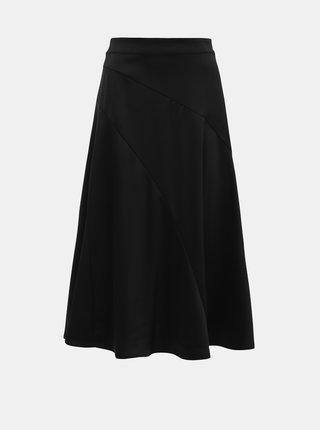 Černá saténová midi sukně VERO MODA Gabbi