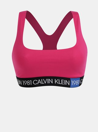 Rúžová podprsenka Calvin Klein Underwear