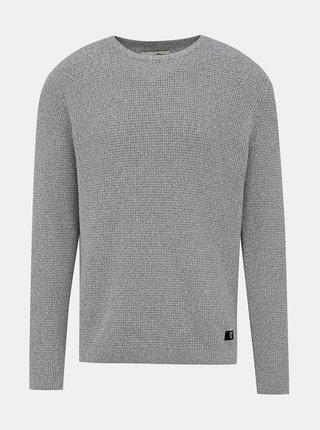 Šedý pánský basic svetr Tom Tailor Denim