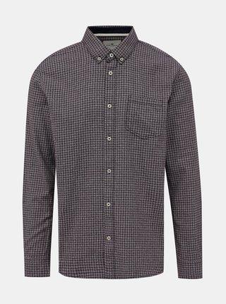 Fialová pánská kostkovaná regular fit košile Tom Tailor
