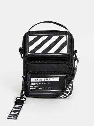 Čierna crossbody taška s potlačou HXTN Supply Utility