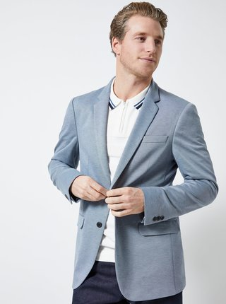 Modré melírované sako Burton Menswear London