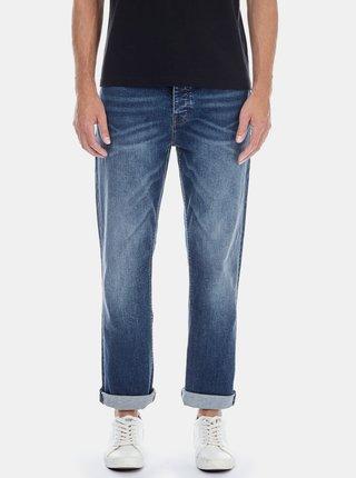 Blugi albastri stretch bootcut din denim Burton Menswear London