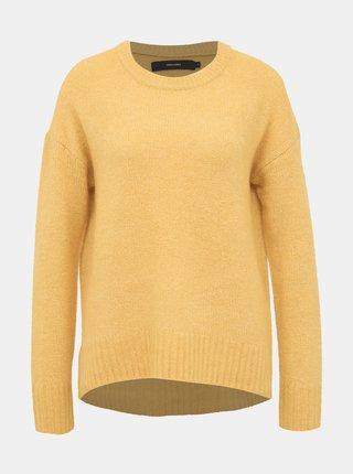 Horčicový basic sveter VERO MODA Kizzi