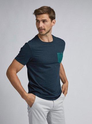 Tmavomodré tričko Burton Menswear London Marl