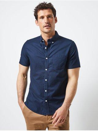 Tmavomodrá košeľa s krátkym rukávom Burton Menswear London