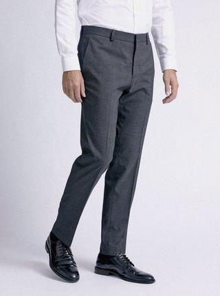 Šedé kostkované slim fit oblekové kalhoty Burton Menswear London