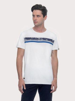 Bílé pánské tričko s potiskem Ragwear Hake