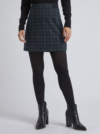 Zeleno-čierna kockovaná sukňa Dorothy Perkins