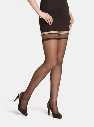 Set de 2 dres autosustinut negru Bellinda Beauty Hold Ups 15 DEN
