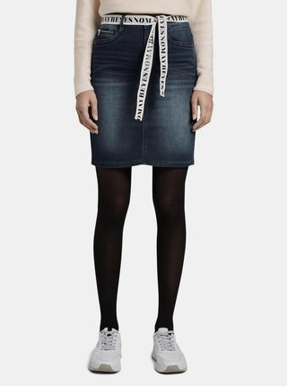Tmavě modrá džínová sukně Tom Tailor