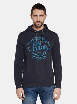 Tmavě modrá pánská mikina s potiskem Tom Tailor