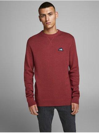 Červený sveter s nášivkou Jack & Jones Double