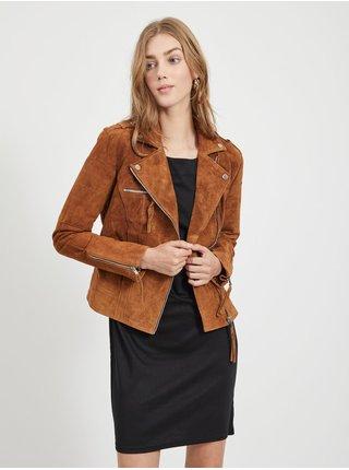 Jachete din piele naturala si sintetica pentru femei VILA - maro