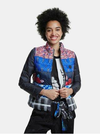 Čierno-modrá prešívaná bunda/vesta Desigual