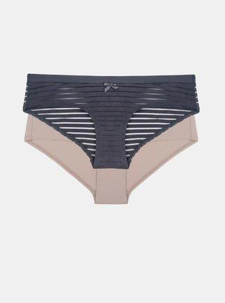 Sada dvou kalhotek v tmavě šedé a růžové barvě Dorina Louise