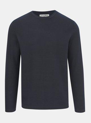 Tmavě modrý pánský basic svetr Tom Tailor Denim