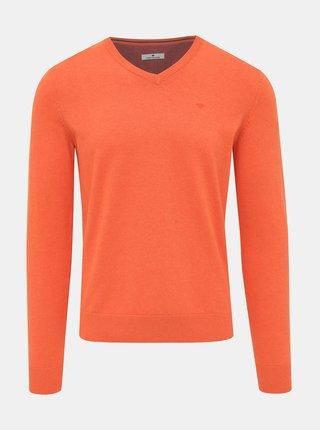 Oranžový pánský basic svetr Tom Tailor