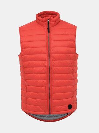 Červená pánska vodeodpudivá prešívaná vesta Tom Tailor