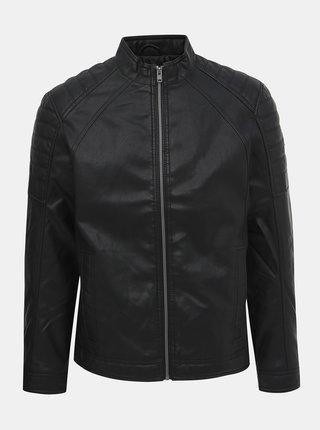 Čierna pánska koženková bunda Tom Tailor
