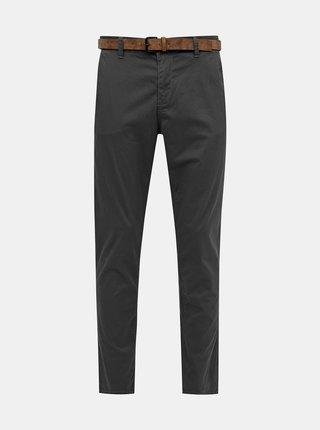 Šedé pánske vzorované chino nohavice Tom Tailor Denim