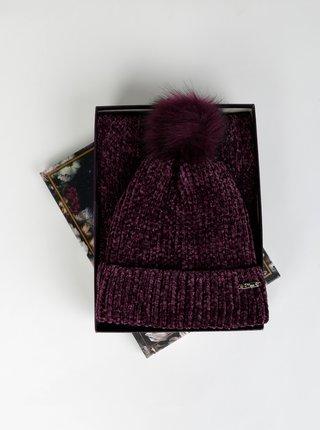 Sada fialové čepice a šály Something Special