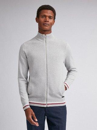 Světle šedý svetr na zip Burton Menswear London