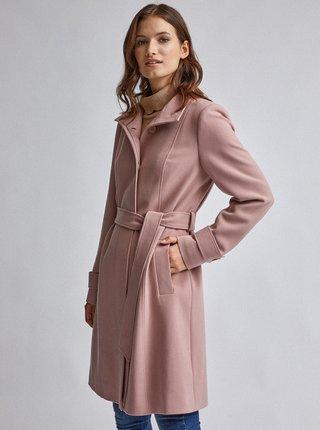 Svetloružový kabát Dorothy Perkins