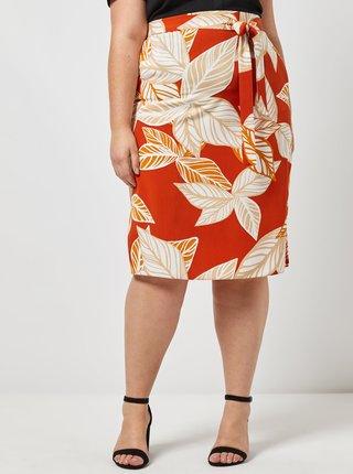 Oranžová vzorovaná sukně Dorothy Perkins Curve