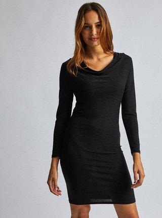 Čierne púzdrové metalické šaty Dorothy Perkins