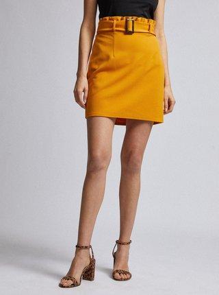 Hořčicová sukně Dorothy Perkins