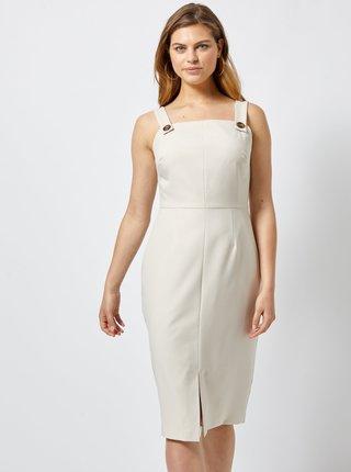 Krémové púzdrové šaty Dorothy Perkins