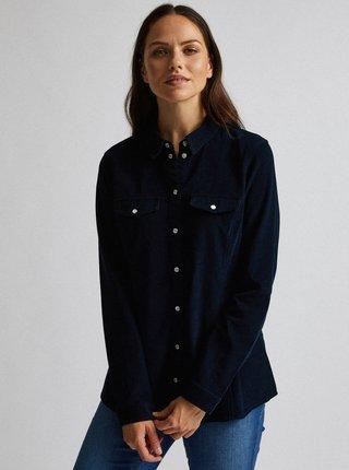 Tmavomodrá menčestrová košeľa Dorothy Perkins