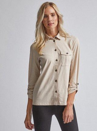 Béžová košeľa Dorothy Perkins