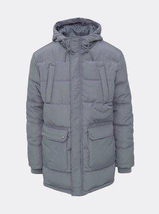 Šedá pánská prošívaná zimní bunda ZOOT