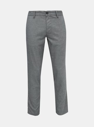 Šedé slim fit nohavice Selected Homme Storm