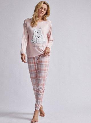 Rúžové vzorované dvojdielne pyžamo Dorothy Perkins