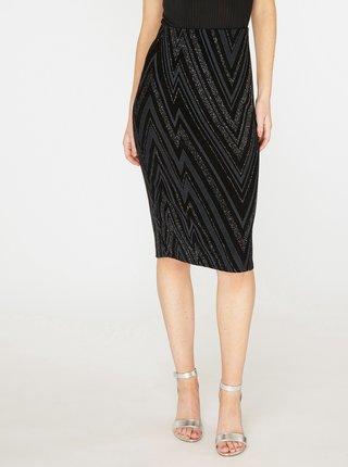 Sivo–čierna vzorovaná puzdrová sukňa s trblietavým efektom Dorothy Perkins