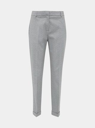 Svetlošedé vzorované nohavice Selected Femme Luna