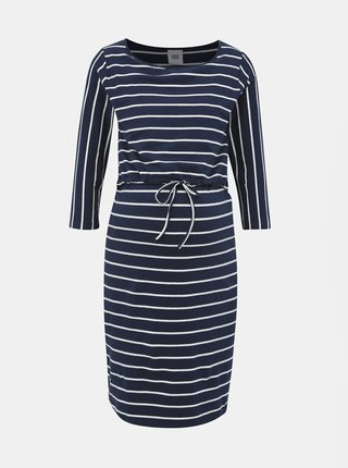 Tmavě modré těhotenské/kojicí pruhované šaty Mama.licious Khloe