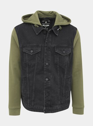 Zeleno-černá džínová bunda ONLY & SONS Coin