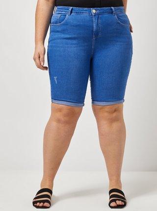 Modré rifľové šortky Dorothy Perkins Curve