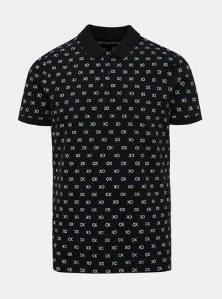 Černé pánské polo tričko s potiskem Calvin Klein Jeans