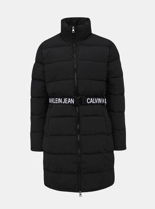 Černý dámský zimní kabát Calvin Klein Jeans