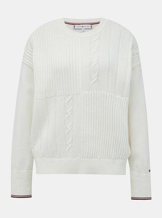 Biely dámsky sveter Tommy Hilfiger