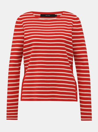 Červený pruhovaný svetr VERO MODA Sailor