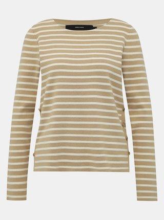 Béžový pruhovaný sveter VERO MODA Sailor