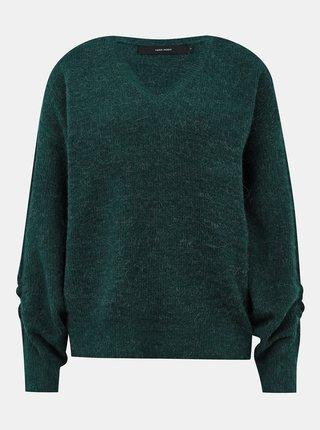 Zelený basic sveter VERO MODA Gata
