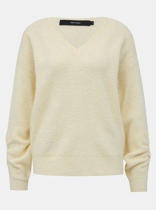 Krémový basic sveter VERO MODA Gata